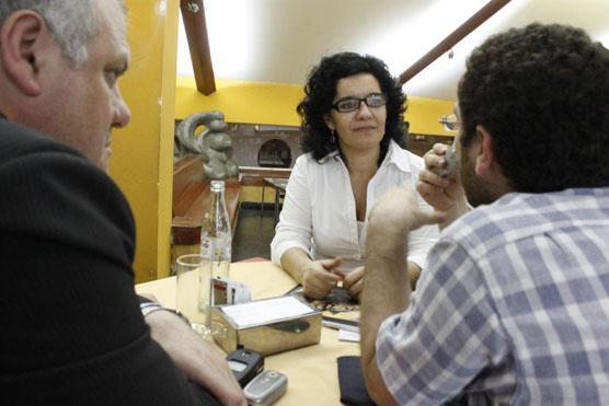 Merchán junto a Masso, presentó un libro sobre las mujeres